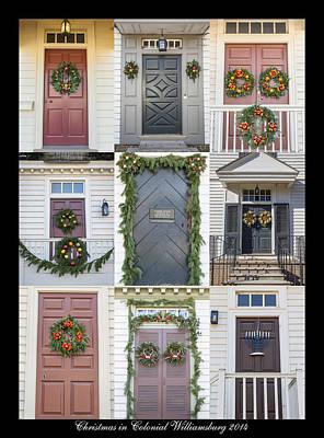 Doors Of Williamsburg Collage 6 Poster by Teresa Mucha