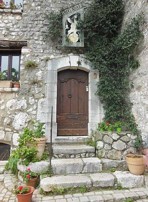Doorway In St Paul De Vence France Poster by Marilyn Dunlap