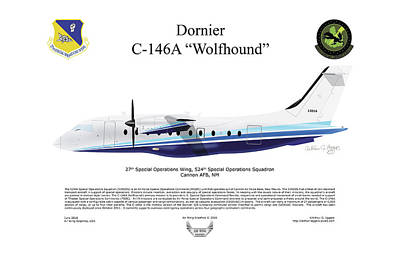 Dornier C-146a Wolfhound Poster by Arthur Eggers