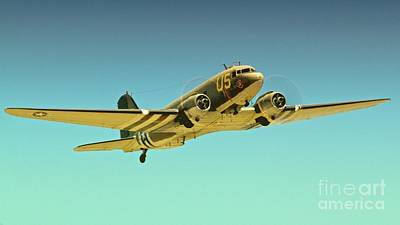 Douglas C-47 2011 Chino Air Show Poster by Gus McCrea