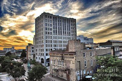 Downtown Appleton Skyline Poster by Mark David Zahn