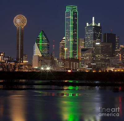 Downtown Dallas, Texas At Night Poster by Anthony Totah
