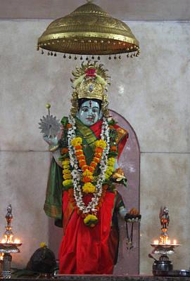 Downtown Ganeshpuri Durga Temple Poster by Jennifer Mazzucco