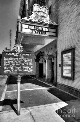 Downtown Maysville Kentucky Black And White Poster by Mel Steinhauer