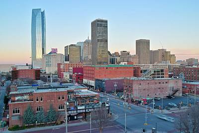 Downtown Oklahoma City  Poster by Frozen in Time Fine Art Photography