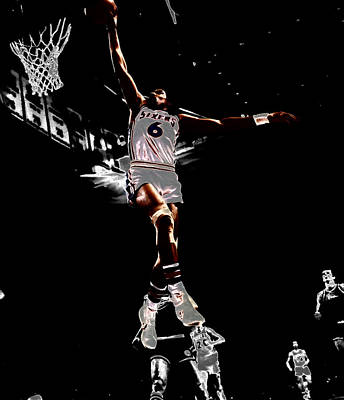 Dr J Slam Poster by Brian Reaves