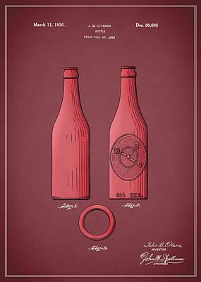 Dr Pepper Bottle Patent 1930 Poster by Mark Rogan