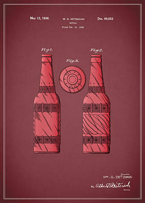 Dr Pepper Patent 1936 Poster by Mark Rogan