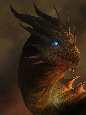 Dragon Portrait Poster by Steve Goad