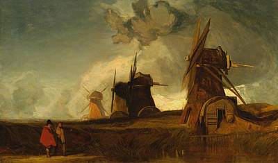 Drainage Mills In The Fens, Croyland, Lincolnshire Poster by John Sell Cotman