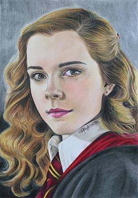 Drawing Hermione Granger Poster by PM Highlanders
