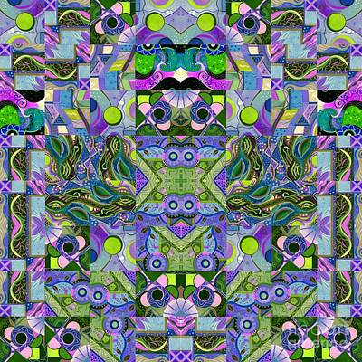 Dreaming In Green - An Altered T J O D Series Mandala Poster by Helena Tiainen