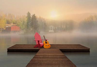 Dreamy Country Lake Poster by Nina Bradica