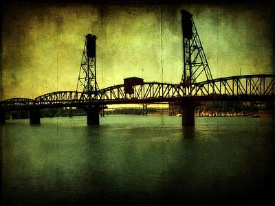 Driving Over The Bridge Poster by Cathie Tyler