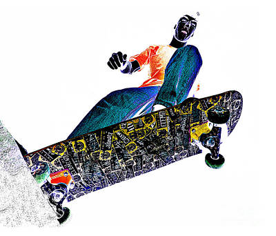 Dropping In Poster by Meirion Matthias