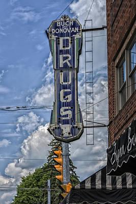 Drugstore - Wheeling West Virginia Poster by Mountain Dreams