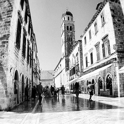 Poster featuring the photograph #dubrovnik #b&w #edit by Alan Khalfin