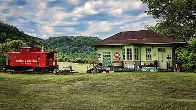 Duffield Depot Poster by Heather Applegate