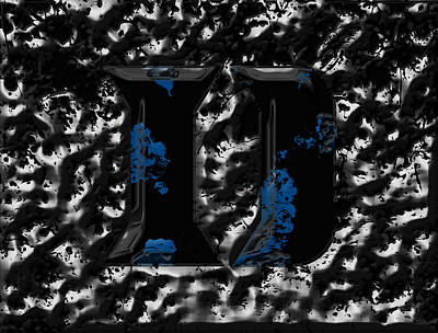 Duke Blue Devils 1b Poster by Brian Reaves