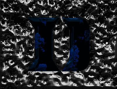 Duke Blue Devils  Poster by Brian Reaves