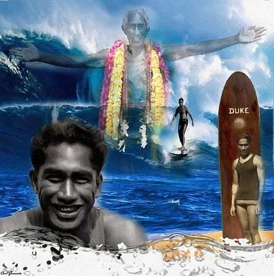 Duke Kahanamoku  Poster by Carl Gouveia