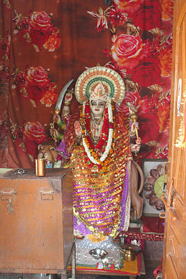 Durga At Neem Karoli Baba Ashram, Vrindavan Poster by Jennifer Mazzucco