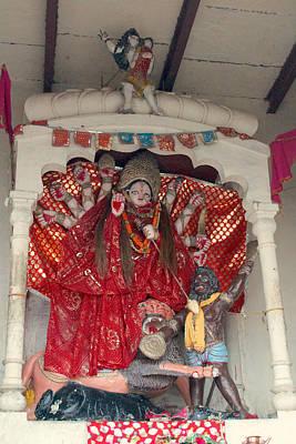 Durga On The Yamuna, Vrindavan Poster by Jennifer Mazzucco