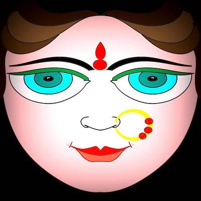 Durga Poster by Pratyasha Nithin
