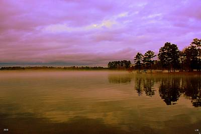 Dusk At Lake Murray Sc Poster by Lisa Wooten