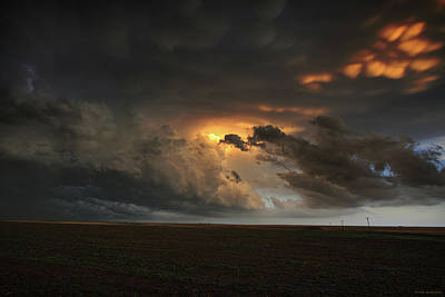 Dusk In The Great Plains Poster by Brian Gustafson