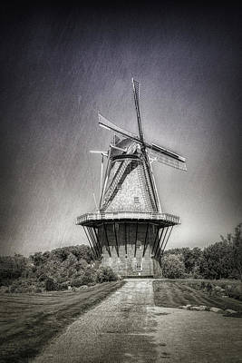 Dutch Windmill Poster by Tom Mc Nemar