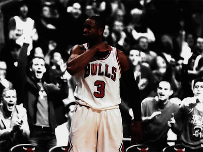 Dwyane Wade 3 Point Dagger Poster by Brian Reaves