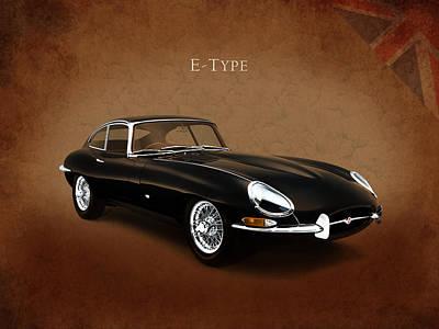 E Type Jaguar Poster by Mark Rogan