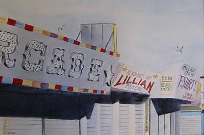 Early Morning Boardwalk Poster by Brian Degnon