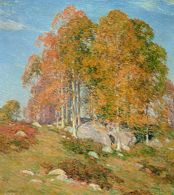 Early October Poster by Willard Leroy Metcalf
