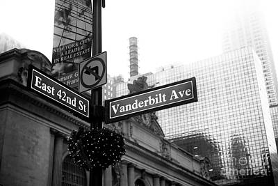 East 42nd Street And Vanderbilt Avenue Poster by John Rizzuto