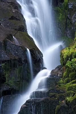 Eastatoe Falls Detail - Waterfalls In North Carolina Photo Poster by Matt Plyler