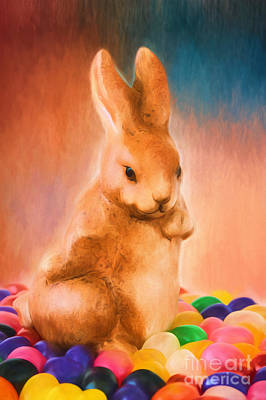 Easter Bunny Poster by Darren Fisher