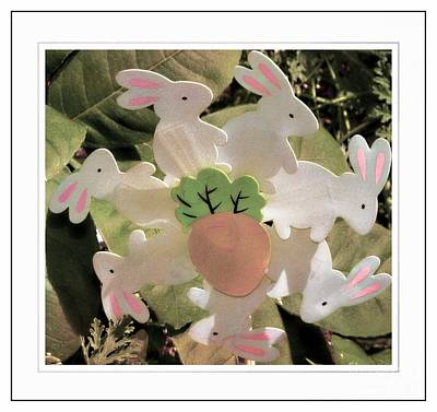 Easter Bunny Decoration Poster by Kathleen Struckle