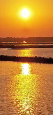 Easter Sunset Southwest Louisiana Poster by John Glass