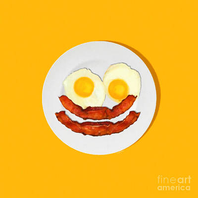 Eat Breakfast And Smile All Day Ora Poster by Wingsdomain Art and Photography