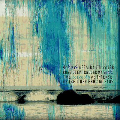 Ebb And Flow Poetry Poster by Brandi Fitzgerald