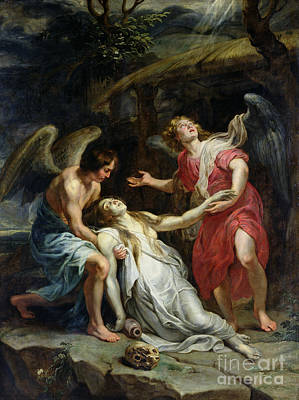 Ecstasy Of Mary Magdalene Poster by Peter Paul Rubens