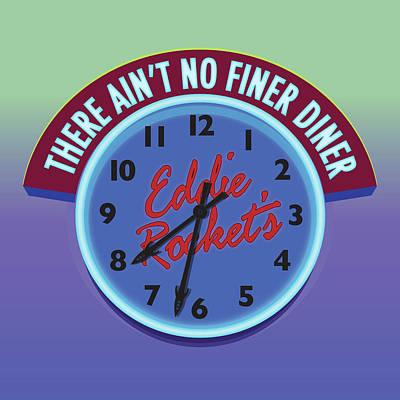 Eddie Rocket Clock Poster by Greg Joens