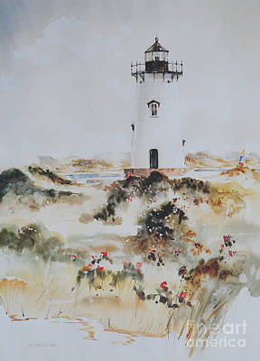 Edgartown Light Marthas Vineyard Poster by P Anthony Visco