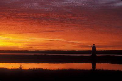 Edgartown Lighthouse Sunrise Poster by John Burk