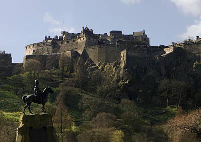 Edinburgh Castle Poster by Mike Lester