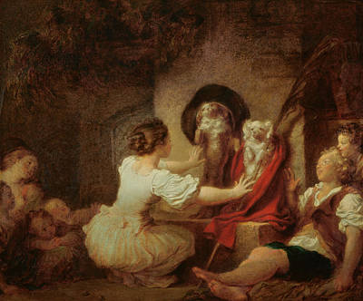 Education Is All Poster by Jean-Honore Fragonard