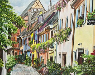 Eguisheim In Bloom Poster by Charlotte Blanchard