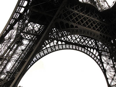Black And White Paris Poster featuring the photograph Eiffel Tower by Fion Ngan @ fill in my blanks